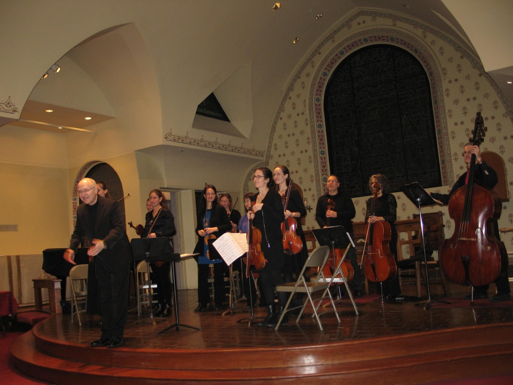 North/South Consonance chamber orchestra under the button  of Maestro Max Lifchitz.